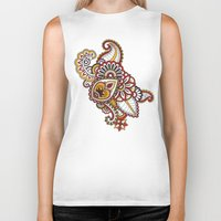 large Biker Tanks featuring Large Mehndi by RevvyIllustrations