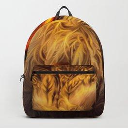 Spectacular Fairytale Bird With Huge Glowing Eyes UHD Backpack