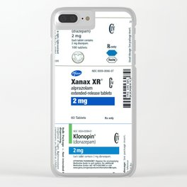 Drug Labels Clear iPhone Case