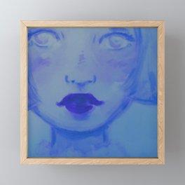 Baby Blue Missing You Framed Mini Art Print