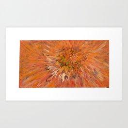 Tangerine Flower Mandala Art Print