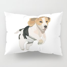 Beagle Art, beagle puppy, digital painting Pillow Sham