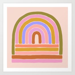 rainbow : of the heart Art Print