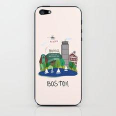 Boston city art print iPhone & iPod Skin