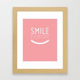 Smile Everyday Framed Art Print
