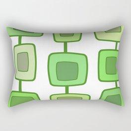 MidCentury Modern Swatches (Chartreuse) Rectangular Pillow