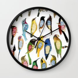 Birds and their insides Wall Clock