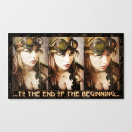 """Triptyque """"TO THE END OF THE BEGINNING"""" Canvas Print"""