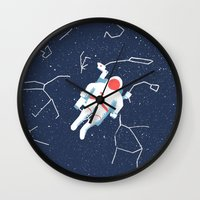 spaceman Wall Clocks featuring Spaceman by James White