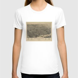 Vintage Knoxville TN Map (1886) T-shirt