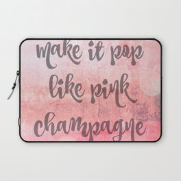 Pink Champagne Laptop Sleeve