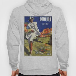 Vintage Italian Alps Cortina summer travel Hoody