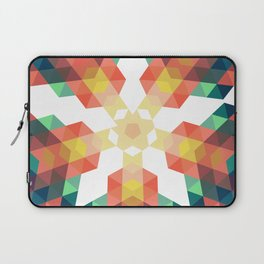 Retro star backdrop. Mosaic hipster background made of triangles Laptop Sleeve