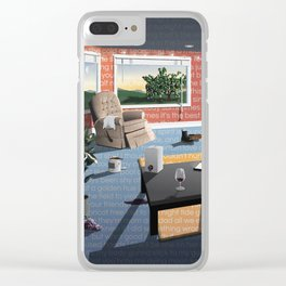 "Hippo Campus - ""Landmark"" Lyrics Clear iPhone Case"