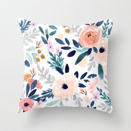 Jolene Floral Throw Pillow