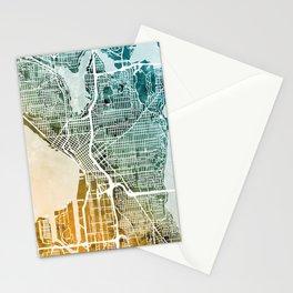 Seattle Washington Street Map Stationery Cards