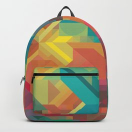 VIBRANT ABSTRACT MULTI COLOR GEOMETRIC PATTERN GRAPHIC Backpack