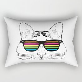 Psychedelic cat  Rectangular Pillow