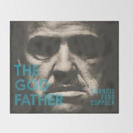 The Godfather, minimalist movie poster, Marlon Brando, Al Pacino, Francis Ford Coppola gangster film Throw Blanket