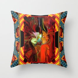 Couple Meet Throw Pillow