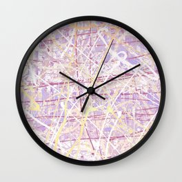 Flight of Color - Lilac Wall Clock