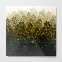 Joy Through The Woods - Green Yellow Metal Print
