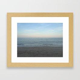 New England Beach Framed Art Print