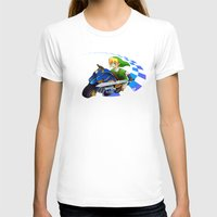 mario kart T-shirts featuring Mario Kart 8 - Link on the Mastercycle by brit eddy