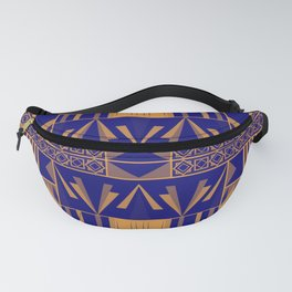 Art Deco Abstract Pattern Royal Blue Fanny Pack