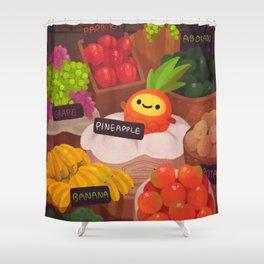 Pineapple NANA in the market Shower Curtain
