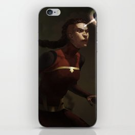 combustion woman iPhone Skin