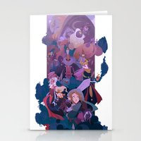 boss Stationery Cards featuring Boss Battle by Ann Marcellino