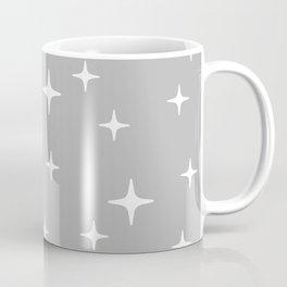 Mid Century Modern Star Pattern 443 Gray Coffee Mug