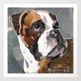 Apollo The Boxer Art Print