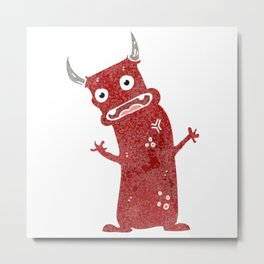 Social Monster Metal Print