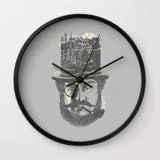 Old man hatten Wall Clock