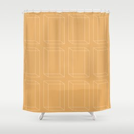 3D Geometric Minimalist Pattern VII Shower Curtain