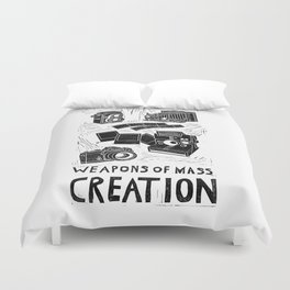 Weapons Of Mass Creation - Photography (blockprint) Duvet Cover