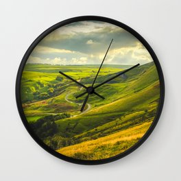 The Hope Valley, Peak District, Derbyshire Wall Clock