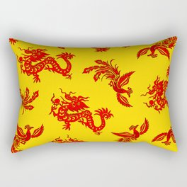 Phoenix Dragon Feng Shui Rectangular Pillow