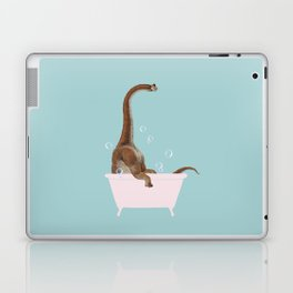 Brachiosaurus in Bathtub Laptop & iPad Skin