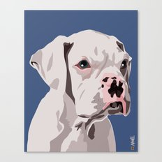 WhiteDog Canvas Print