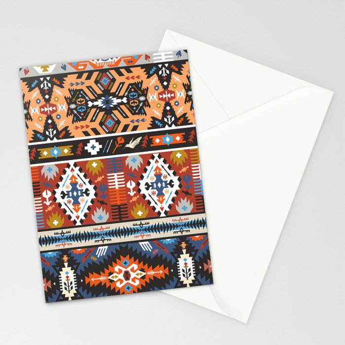 Fancy abstract geometric vector pattern in tribal style.cdr Stationery Cards