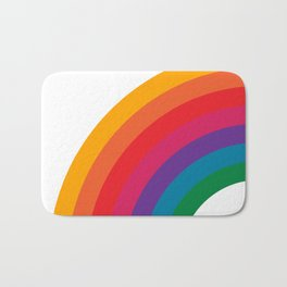 Retro Bright Rainbow - Left Side Bath Mat