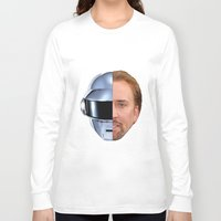 nicolas cage Long Sleeve T-shirts featuring Daft Cage by Jared Cady