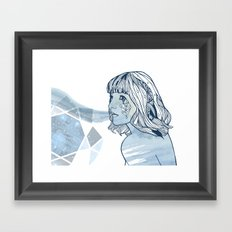 Lavender Diamond Framed Art Print