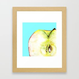 Apple on Aquamarine Framed Art Print