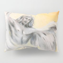 Guardian Angel World Peace - Handpainted Angel Art Pillow Sham