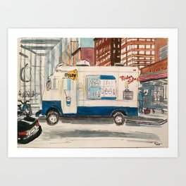 Mr Softee Ice cream truck Art Print