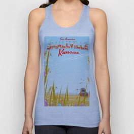 Smallville Kansas retro Travel poster Unisex Tank Top